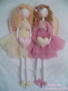 Diy Rag Dolls, Sewing Dolls, Diy Doll, Handmade Angels, Handmade Dolls, Fabric Toys, Child Doll, Fairy Dolls, Soft Dolls