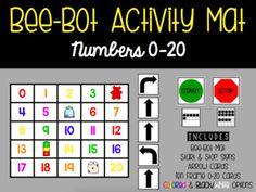 PRINTABLE Numbers 0-20 Bee-Bot Mat!