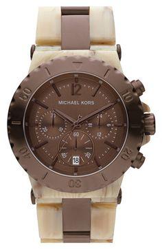 Michael Kors 2-Tone Resin Chronograph Watch (Style #MK5596)