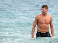 Steven Gerrard spotted in Ibiza on July 2, 2014.