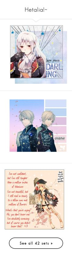 """""""Hetalia!~"""" by lost-masked-kitten ❤ liked on Polyvore featuring APH, awesomeanime, art, Parisian, RIFLE, Victorinox Swiss Army, Chanel, Band of Outsiders, Argent of London and Avon"""