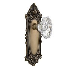 Nostalgic Warehouse Chateau Double Dummy Door Knob with Victorian Plate Finish: