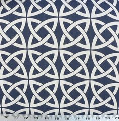 Navy Blue Outdoor/Indoor Fabric Navy Blue/White by EnglesideManor, $14.85