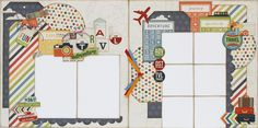 Travel Adventures Layout kit   www.paisleysandpolkadots.com  #urbantraveler #simplestories #scrapbooking #scrapbook layouts