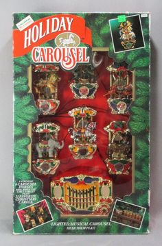 Vintage Mr Christmas Animated Holiday Carousel Musical Decoration MIB 1992 #MrChristmas
