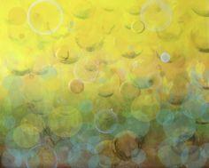 """Lemonade Sunrise"" | 48"" x 72"" | Oil and resin on canvas | 2014 Wayne State University, New Art, Lemonade, Sunrise, Resin, Oil, Canvas, Artist, Painting"