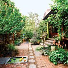 Yard reinvention - Playful Front Yard Garden - Sunset