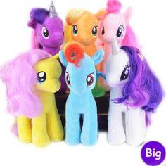 18 CM 6 Warna 2016 Segar Mewah Kuda Unicorn Stuffed Hewan Mainan Bayi Bayi Gadis Mainan Hadiah Ulang Tahun Rainbow Dash