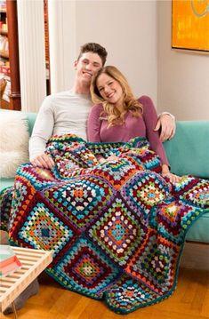 Bag Crochet, Crochet Afgans, Crochet Quilt, Crochet Squares, Crochet Granny, Crochet Blanket Patterns, Crochet Yarn, Crochet Stitches, Free Crochet