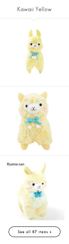 """""""Kawaii Yellow"""" by toukofukawa3689 ❤ liked on Polyvore featuring toy, object, plushie, stuffed animals, plushies, toys, home, mario, filler and fillers"""