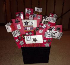 birthday basket for my son's birthday. Filled with gift cards and notes to open numbered presents - he loved it! I would make the gifts better as the number increases 18th Birthday Gifts For Boys, 18th Birthday Present Ideas, Cute Birthday Gift, 18th Birthday Party, Birthday Gifts For Boyfriend, Friend Birthday, Birthday Presents, Boyfriend Gifts, Boy Birthday