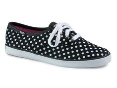 Black And White Graphic: Polka Dot Sneakers. I love sneakers and I love dots. Perfection!