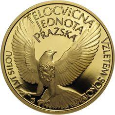 TĚLOCVIČNÁ JEDNOTA PRAŽSKÁ (SOKOL) - 150. VÝROČÍ ZALOŽENÍ AU Coins, Personalized Items, Love, Coining, Rooms