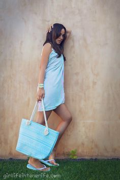 Turquoise set by Alehop for Girl Life in Tenerife