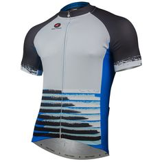 Speed Run Cycling Jersey by Katherine Hall Men's | Artist-Inspired Cycling Apparel | Pactimo