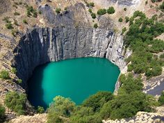 Historic diamond mine at Kimberley in South Africa.