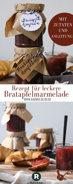 The best baked apple jam for Christmas make yourself recipe included - Marmelade/ Sirup - Weihnachten Halloween Mason Jars, Apple Jam, Diy Jewelry To Sell, Diy Crafts To Do, Christmas Makes, Xmas, Baked Apples, Your Recipe, The Best