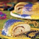 "Recipe for ""King Cake"" - a traditional New Orleans recipe, popularly served at Mardi Gras celebrations."