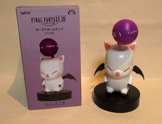 New FINAL FANTASY XIV FF 14 Moogle Figures TAITO Room lamp Purple light 220 mm