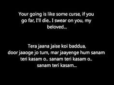 Sanam Teri Kasam with English Translation - Hindi Lyrics - Movie Sanam T...
