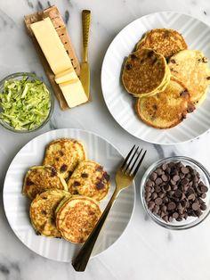 Paleo-ish Chocolate Chip Zucchini Bread Pancakes