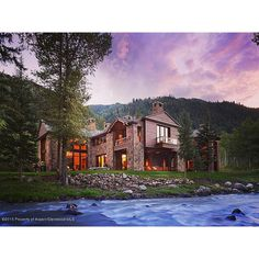 On the banks of the Roaring Fork River lies this 8 bed, 9 full and 4 half bath estate.  And you are going to want to see the interior.  No.  You REALLY are!! | Listed by Craig Morris of Aspen Snowmass @sothebysrealty for $50M. http://rltr.cm/41popcorn