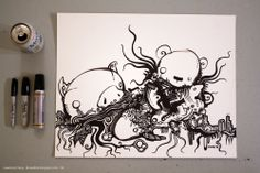 sharpie bear drawing - Google Search