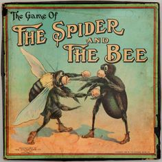 The Game of the Spider and the Bee  1912  Chicago Game Co.   Chicago, Illinois  Collection of David Galt, New York, New York. SFO MUSEUM: Let's Play! 100 Years of Board Games