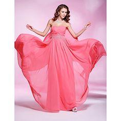 Sheath/ Column Sweetheart Floor-length Chiffon Evening Dress – USD $ 178.19