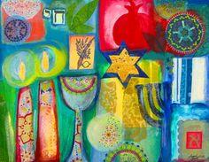 Jewish symbols, 2012, (c) Tuuli Levit, mixed media