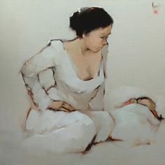 Mother And Child by Nguyen Thanh Binh from Judith Hughes Day Vietnamese Contemporary Fine Art