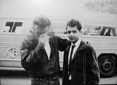 James Dean and Sal Mineo.