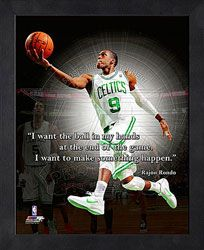 """I want the ball in my hands at the end of the game. I want to make something happen."" Rajon Rondo Boston Celtics #Motivational #Inspirational http://www.fansedge.com/Rajon-Rondo-Boston-Celtics-12x15-Framed-ProQuote-_800264160_PD.html?social=pinterest_pfid44-61529"