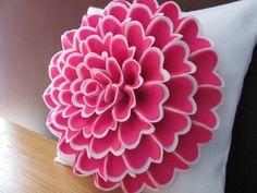 Pillow Pattern ISABELLA FLOWER Felt Flower Pillow by SewYouCanToo, $6.00