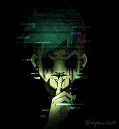 Split in half by Jacksepticeye Jacksepticeye Drawings, Anti Jacksepticeye, Markiplier, Pewdiepie, Yandere, Antisepticeye Fanart, Jack And Mark, Jack Septiceye, Darkiplier And Antisepticeye