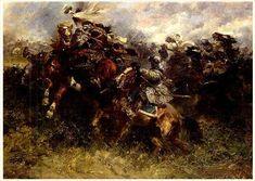 Polnische Reiter im Kampf