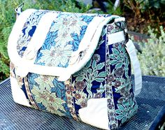 Leah made this beautiful Kennedy Bag, a free pattern from Sew Sweetness