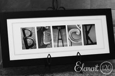 Element 120 Photos — Personalized Alphabet Photography Letter Name Frame - 8x20