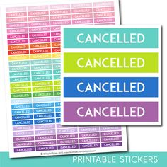 Cancelled stickers, Cancelled planner stickers, Cancelled printable stickers, Personal stickers, Work sticker, Office stickers, STI-241