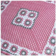 CROCHETED BABY AFGHAN Blanket gray pink and by RainbowGerbera, $60.00 by shana