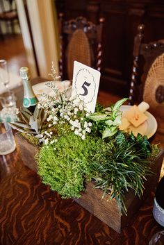 Cecil & Jessica's $5,000 Handmade Florida Wedding:  Photography by Jemma Coleman. #centerpieces #tablenumbers #budgetwedding Read more on www.intimateweddings.com