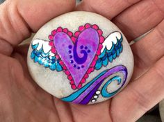 You lift me up / painted rock / painted stone / by LoveFromCapeCod