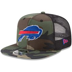 Men s Buffalo Bills New Era Woodland Camo Black Trucker 9FIFTY Snapback  Adjustable Hat 7908d4b53
