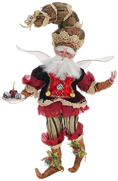 Adorned with realistic-looking apple slices and a sharp black-and-white trim on his coat, this popular Mark Roberts-designed fairy is a great way to start Christmas Store, Santa Christmas, Christmas Ornaments, Christmas Ideas, Elegant Christmas, Father Christmas, Christmas 2016, Christmas Inspiration, Holiday Ideas