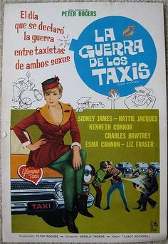 Carry on Cabby Gerald Thomas, dir. Best Movie Posters, Film Posters, Spanish Posters, British Comedy, Stage Play, 2 Movie, Vintage Movies, Carry On, Entertaining