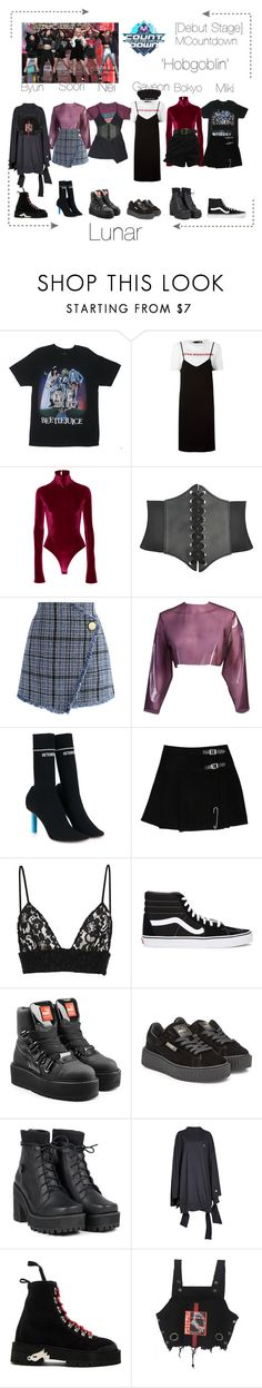 """""""Lunar 음력 [Debut Stage] 'Hobgoblin' MCountdown"""" by lunar-official ❤ liked on Polyvore featuring Love Moschino, Alix, Chicwish, Sydney-Davies, Vetements, MSGM, Vans, Puma, UNIF and Off-White"""