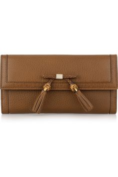 Gucci : bamboo-tasseled leather wallet