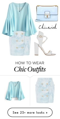 """""""CHICWISH Top"""" by tania-alves on Polyvore featuring Balmain, Chicwish and Paul Andrew"""
