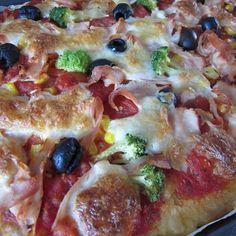 Bezlepková kynutá pizza s olivami | Lowfodmapdieta.cz