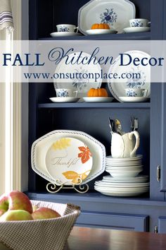 Simple yet functional pops of color from natural elements are the perfect way to add fall decor in the kitchen.